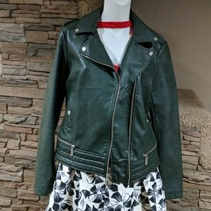 🥶Bernardo.faux leather coat sz m nwt